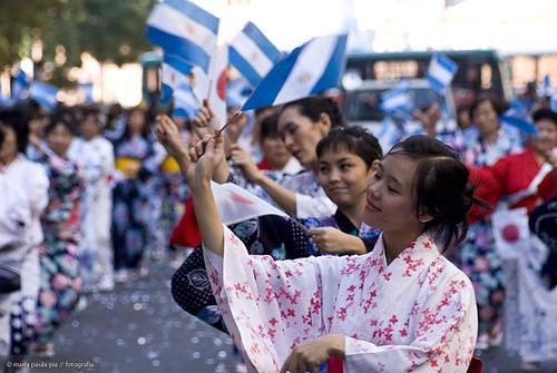 Desfile Bicentenario comunidad japonesa