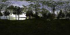 Moonlight Bay Evening Equirectangular @ Rama First Nation (Robert Snache - Spirithands.net) Tags: panorama bay 360 180 moonlight equirectangular spirithands ramafirstnation robertsnache