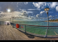 164/365 - HDR - Boscombe.Pier.Fisherman.@.1150x760 (Pawel Tomaszewicz) Tags: camera new sea wallpaper england sky beach water colors beautiful architecture clouds photoshop canon photography eos pier photo europe foto angle image photos wide creative picture wideangle ps images x dorset 1200 fotografia 800 molo hdr hdri anglia aparat iphone pawel cs3 boscombe ipad morze chmury 3xp photomatix greatphotographers eos400d 1200x800 fotografowie polscy tomaszewicz paweltomaszewicz