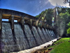 Standing Stone Dam, Standing Stone State Park, Overton Co, TN (Chuck Sutherland) Tags: park county lake mill stone creek standing landscape tn state dam tennessee overton