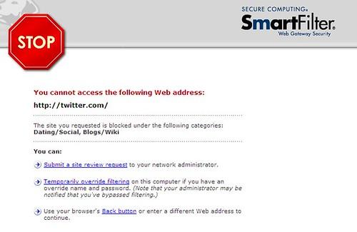 twitter - blocked
