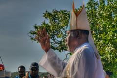 Bishop Mabo blesses  Sageraw Kuyop