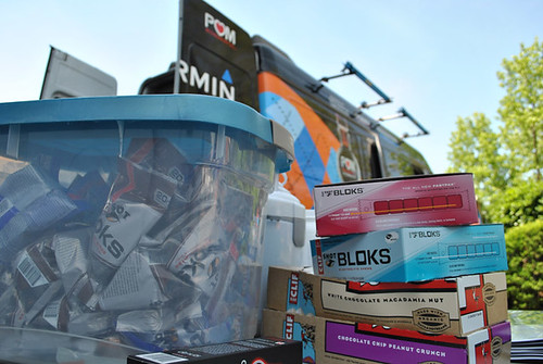 Team Garmin and CLIF SHOT BLOKS