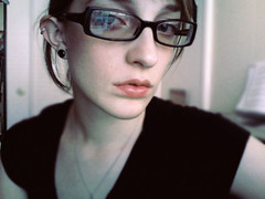 (coalesce0) Tags: california home glasses necklace focus photobooth pale blackshirt plugs gauges breakup 0g