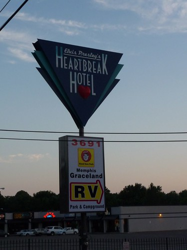 heartbreak hotel sign.