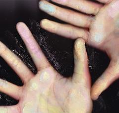 Weird things I've scanned (Olivia Foley) Tags: money 1 chalk hands fingerprints georgewashington quarters dollars handprints americanfencing purplequarter