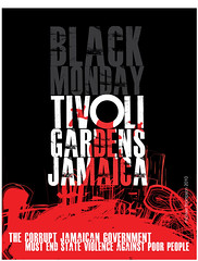 Massacre in Tivoli Gardens (freestylee) Tags: art poster us military central kingston miller jamaica shooting innercity unrest corruption jdf dudus blackmonday pnp llp tivoligardens jcf killings manatt jlp michaelthompson denhamtown brucegolding edwardseaga fleps mannetphillip phelpsphillips wikileakes