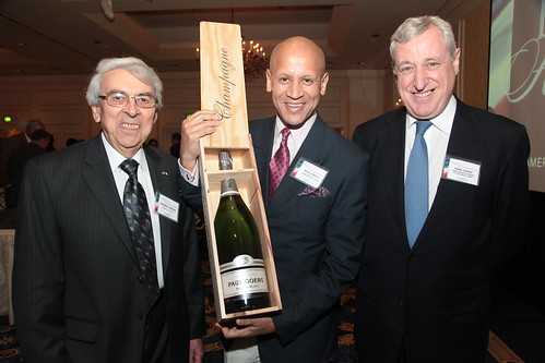 Maurice Gervais, President of FACC, New England Chapter Mario Rinaldi and Pierre Vimont, Ambassador of France to the United States