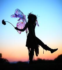 Twig the Fairy Magical Silhouette (gbrummett) Tags: sunset beautiful silhouette wonderful magic silhouettes fairy fantasy scarboroughrenaissancefestival twigthefairy arizonarenaissancefestival azrenfest canonef85mmf12liiusmlens canon5dmarkiicamera grantbrummett scarbyrenfaire