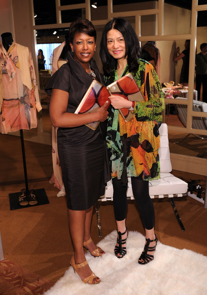 Global Marketing Manager of Priscilla of Boston Kimberly Minor and Fashion Designer Vivienne Tam