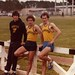 Track and field captains Pete Armbruster, Jeff Grant, and John Rydeski, 1981