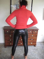 Tight Leggings 01 (Leather Melissa) Tags: black leather tight leggings