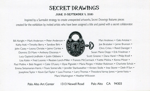 "Palo Alto Art Center ""Secret Drawings"" Jun 20, 2010"