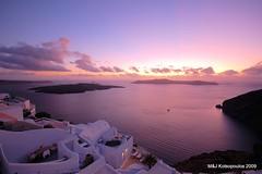 Quintessential Santorini (John & Mel Kots) Tags: light sunset sea island aegean hellas santori