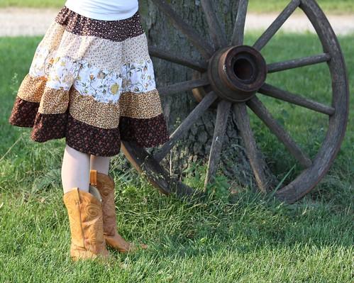 handmade tiered skirt vintage fabrics