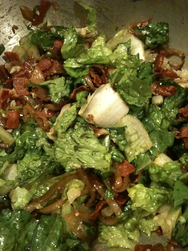 Bacon and Cheese Caesar Salad