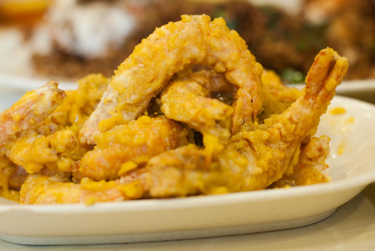 Fried Prawns in Salted Duck Yolk