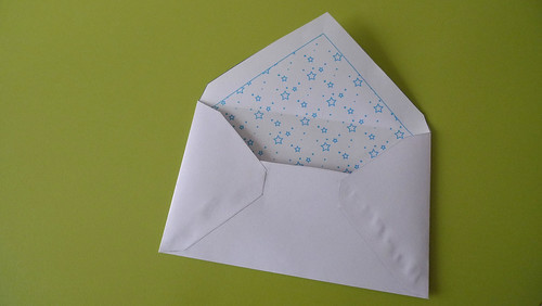 blue star envelope