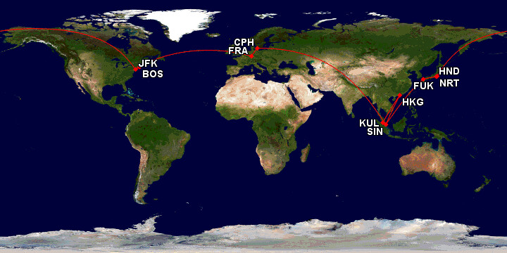 Flight path for this trip
