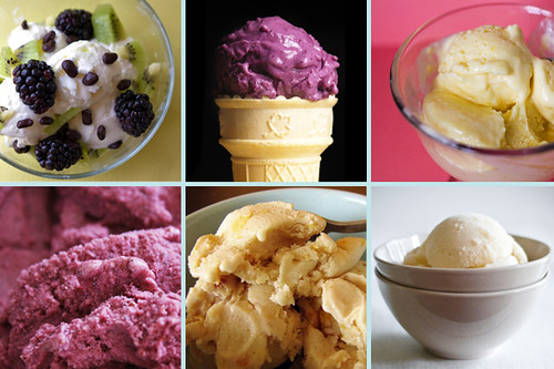 ice cream collage froyo