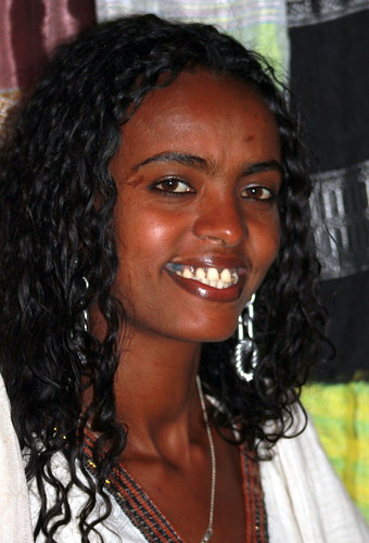 Ethiopian Beauty. This young woman was working in a shop opposite my hotel ...