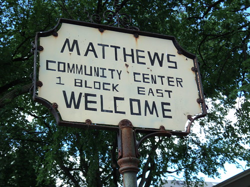 Matthews Community Center Sign