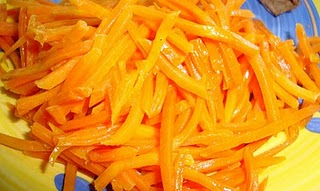 Food Floozie: Orange-Glazed Shredded Carrots
