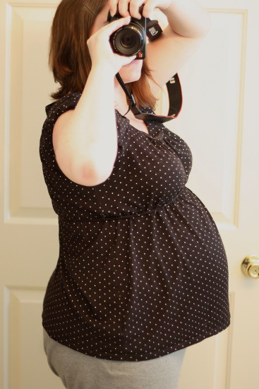 8 months pregnant (36 weeks)