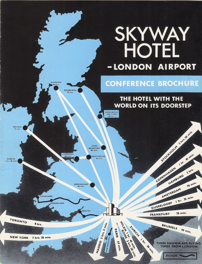 Skyway Hotel, London Heathrow Airport - conference brochure, c1960