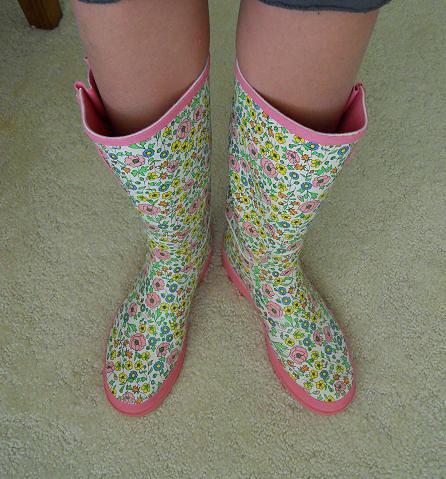 gardening boots.