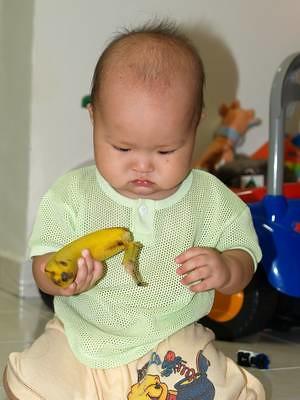 Justin and banana