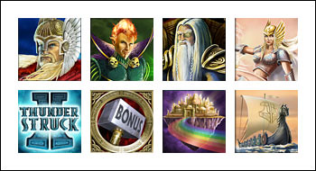 free Thunderstruck II  slot game symbols