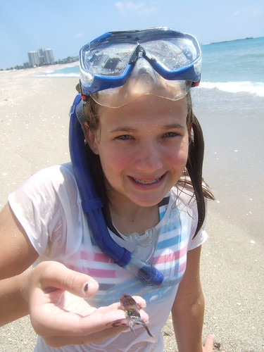 Madison catches a reef squid!