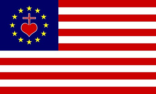 Patriotic flag for American Catholics