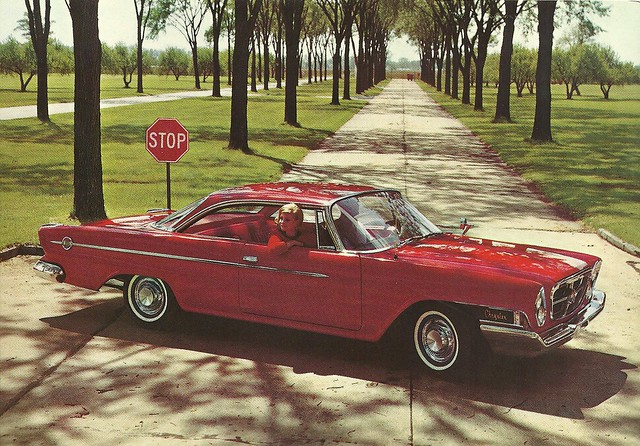 ads advertising postcard chrysler 300 1962