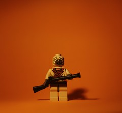 Tusken Raider (Dan Hoare) Tags: orange macro cute dan photoshop portraits canon photography eos lights idea star photo cool funny lego photos background homemade elements wars mm f18 50 ideas picnik fifty nifty intresting blunderbuss balakov 450d
