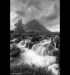 Glencoe (Kit Downey) Tags: longexposure mountain tree wet water rain landscape scotland waterfall october rocks heather peak explore glencoe mor stormcloud buachaille rainclouds etive munro dreich scottishhighlands stobdearg a82 scottishlandscape explored scottishmountain tokina1116mmf28 kitdowney canoneos550d canonrebelt2i