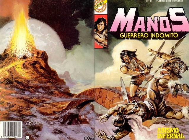 Manos Guerrero Indomito, Cover #5
