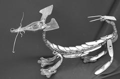 scorpichien2 (pedrobigore) Tags: sculpture chien table bateau poisson métal fer masque acier danseuse récup volant bestioles récupération soudure soudeur féraille akouma hipocamppe
