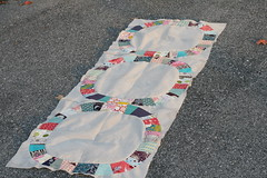 One Row Done! (Make it Modern) Tags: denyseschmidt modernquilt singlegirlquilt ringquilt
