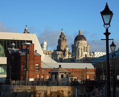 The Liver Building from Albert Dock, Liverpool (Flamenco Sun) Tags: liverpool beatles lennon ringo mersey albertdock thebeatles magicalmysterytour macca beatlemania rivermersey thecavern strawberyfields johnpaulgeorgeringo