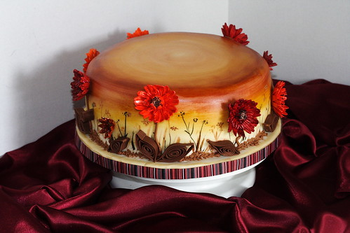Fall flowers cake0019