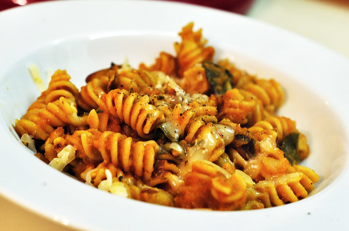 Pumpkin Baked Pasta with Chard