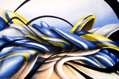 bluemustard (mrzero) Tags: graffiti hungary gallery style exhibition canvas spraypaint zero cfs mrzero coloredeffects