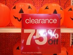 Pumpkin clearance