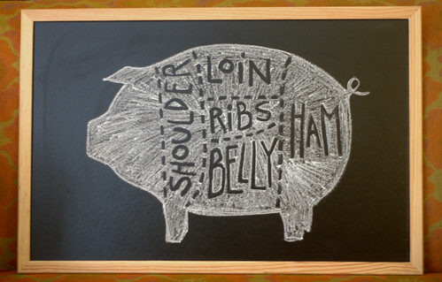 chalkboard pig diagram