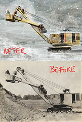 Shovel - before | after (http://www.agatti.com) Tags: christmas winter red party usa snow cold men illustration feast digital america photoshop work buildings painting tickets moving foto photos crane earth digging andrea united hill hard manipulation neve land restoration movimento states another merry shovel terra festa inverno natale rosso fatigue biglietto greeting freddo gatti duro digger collina auguri adv pala gru lavoro altro fatica uomini costruzioni restauro felicit editoria manipolazione digitalcoloring augurale scavatore agatticom colorazionedigitale