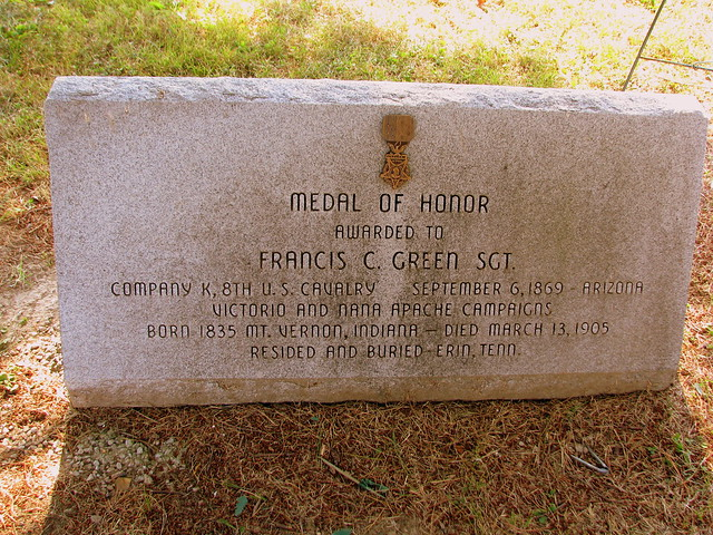 Memorial to Sgt. Francis Green