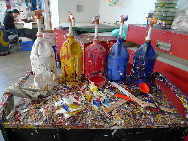 Paint spatters