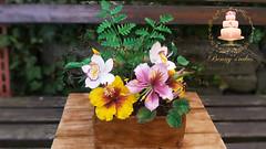 Tropical flowers cake (Albena Bojidarova) Tags: flowers gumpaste tropical hibiscus bauhinia cake shugar